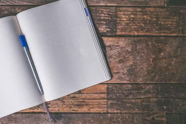 ballpen blank desk journal
