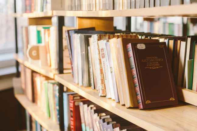 photo of books on shelves